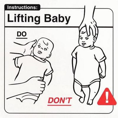 Lifting baby