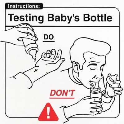 Testing baby's bottle