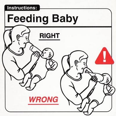Feeding baby
